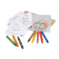 Wax Crayon Colouring Set